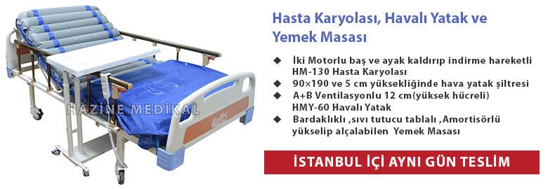 Full ABS 4 Motorlu Asansörlü Hasta Yatağı